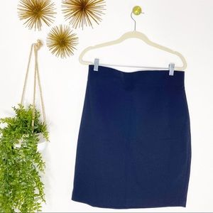 🔥 Premise Studio Navy Blue Pencil Gold Zip Skirt